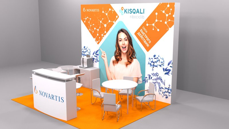 """3D стенд для мероприятия """"Novartis"""" – работа в портфолио фрилансера"""