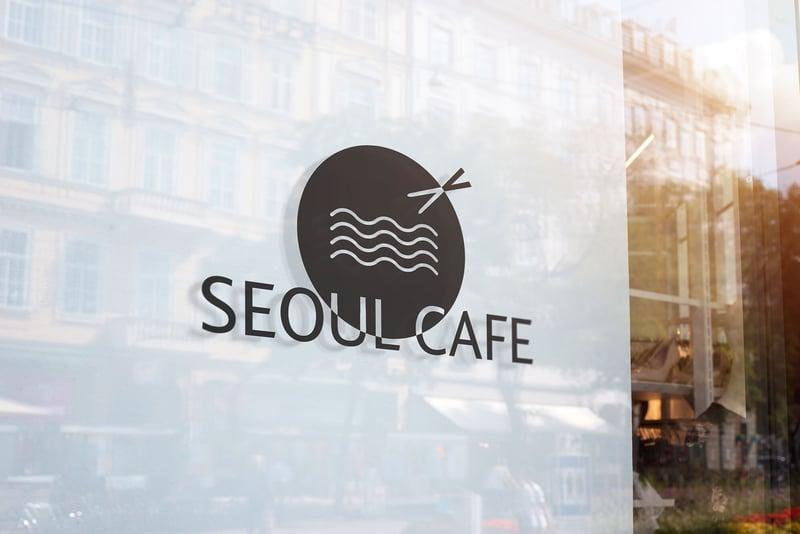 Логотип для ресторана корейской кухни «Seoul Cafe» – работа в портфолио фрилансера