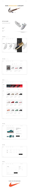 Редизайн интернет-магазина спортивной обуви – работа в портфолио фрилансера