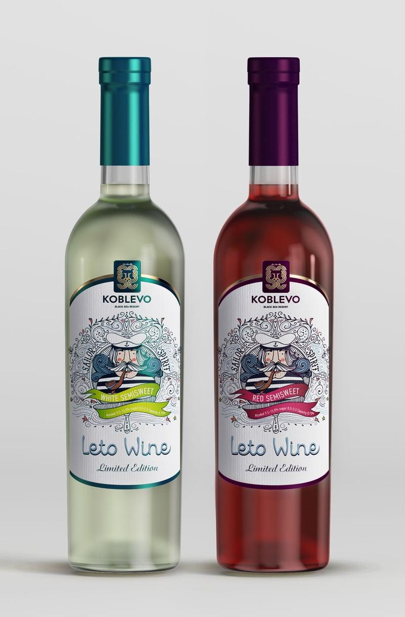 Leto wine – work in freelancer's portfolio