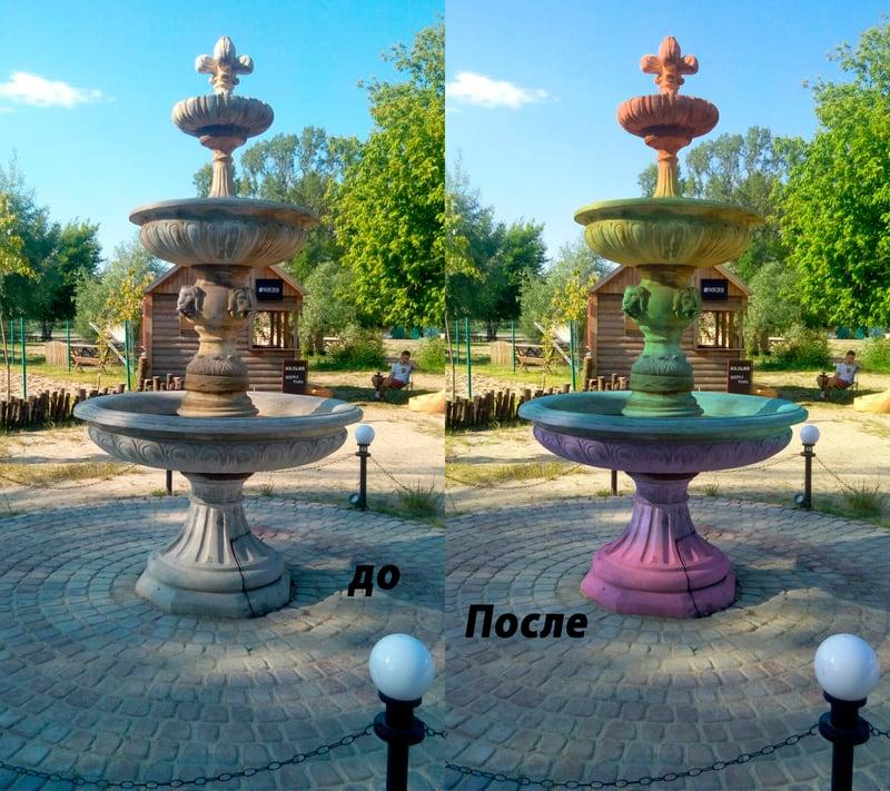 Подборка цвета для фонтана – work in freelancer's portfolio