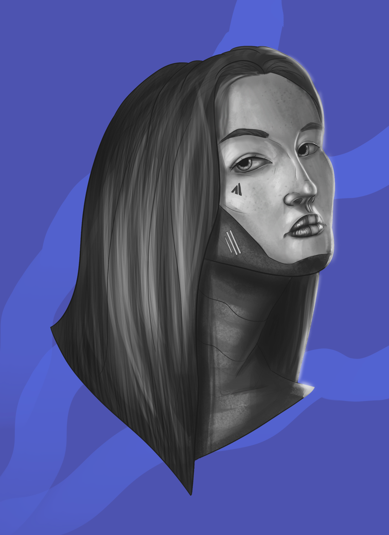Портрет девушки – работа в портфолио фрилансера