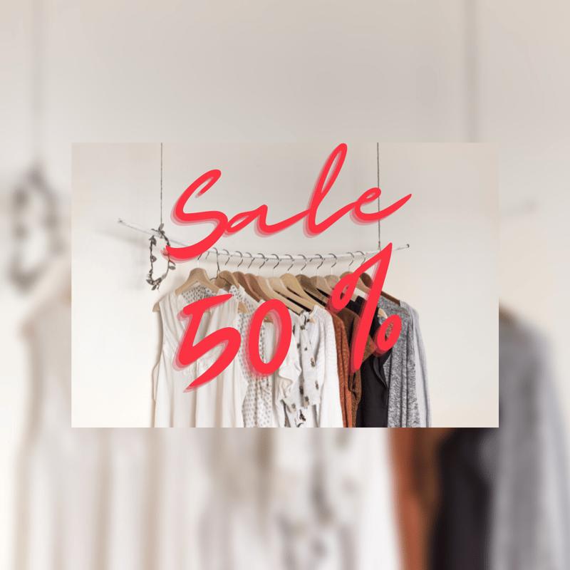 Реклама распродажи одежды в Instagram – work in freelancer's portfolio