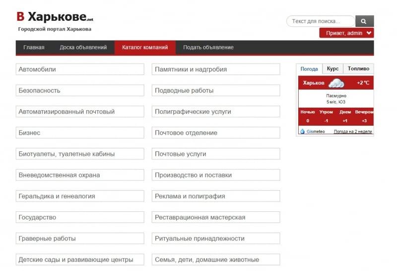 """Создание каталога """"ВХарькове"""" – work in freelancer's portfolio"""