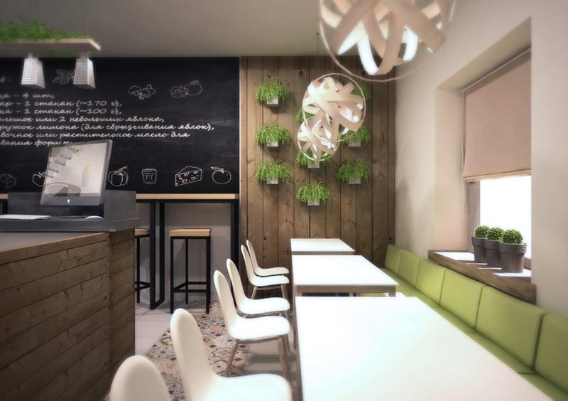 Визуализация небольшого кафе – work in freelancer's portfolio