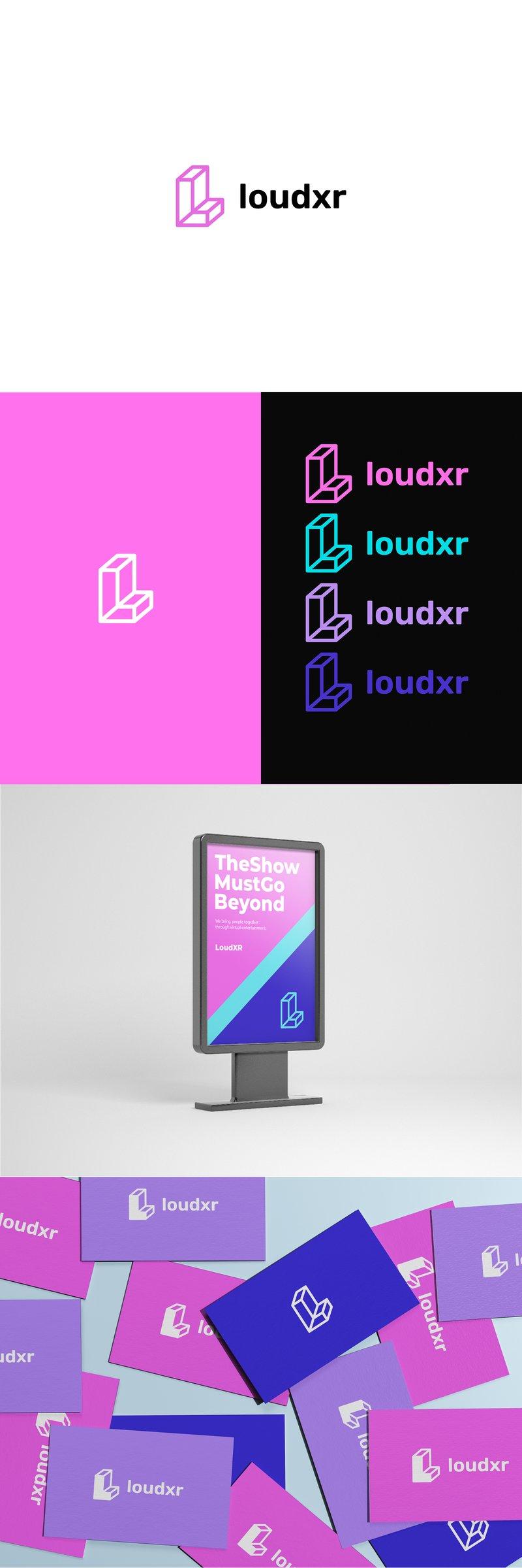 Логотип для loudXR – работа в портфолио фрилансера