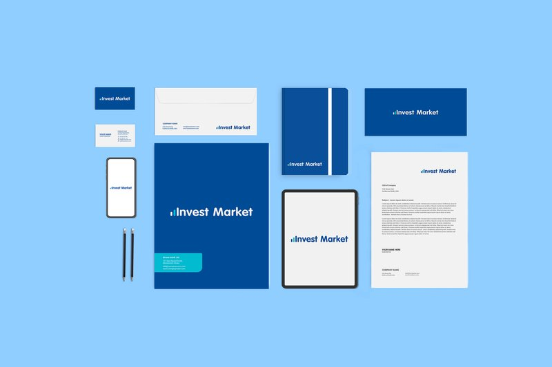 Логотип для «Invest Market» – работа в портфолио фрилансера