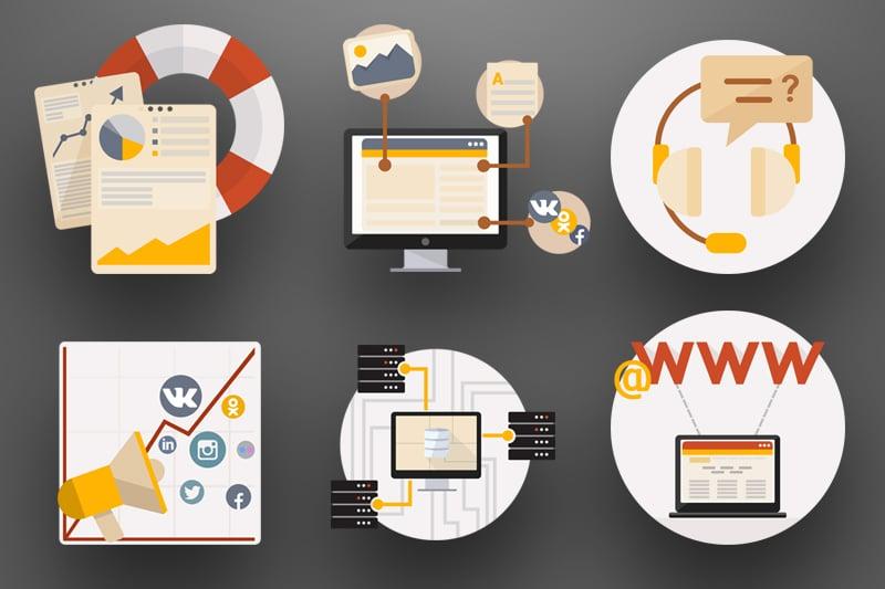 Набор иконок для веб сайта – work in freelancer's portfolio