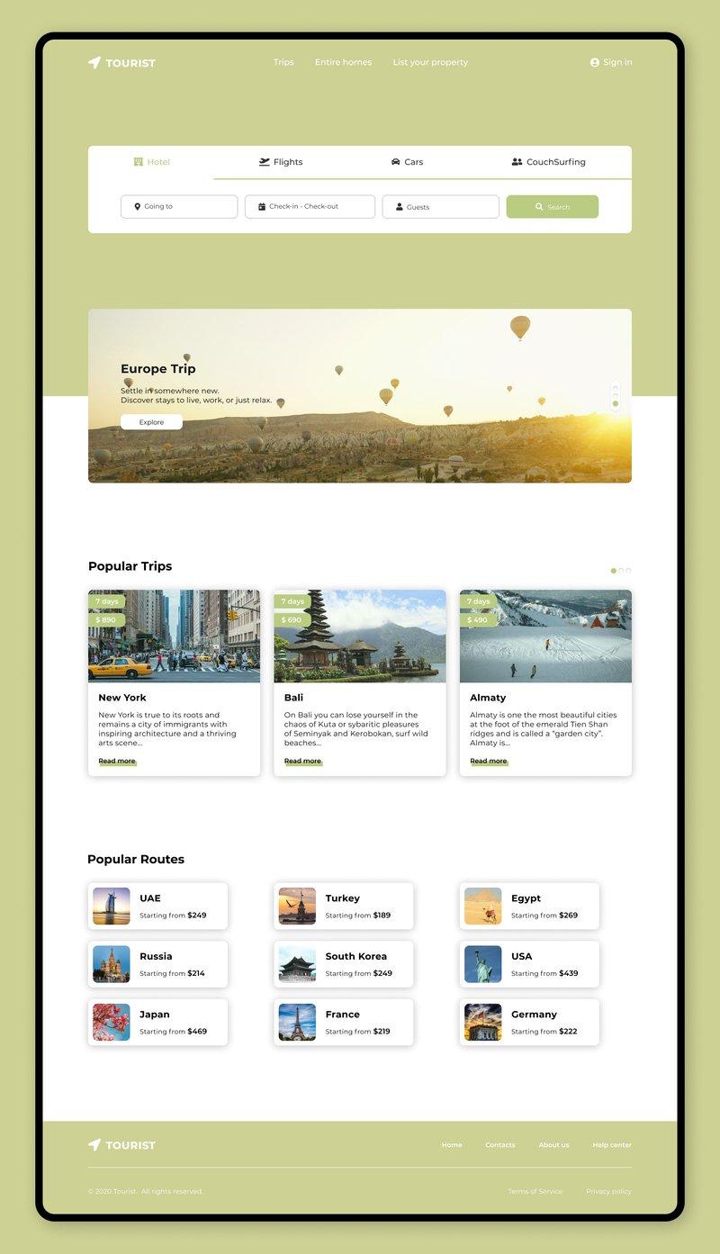 Дизайн сайта в Figma – работа в портфолио фрилансера
