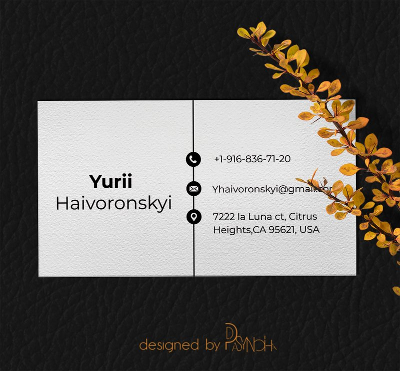 Персональная минималистичная визитка – work in freelancer's portfolio