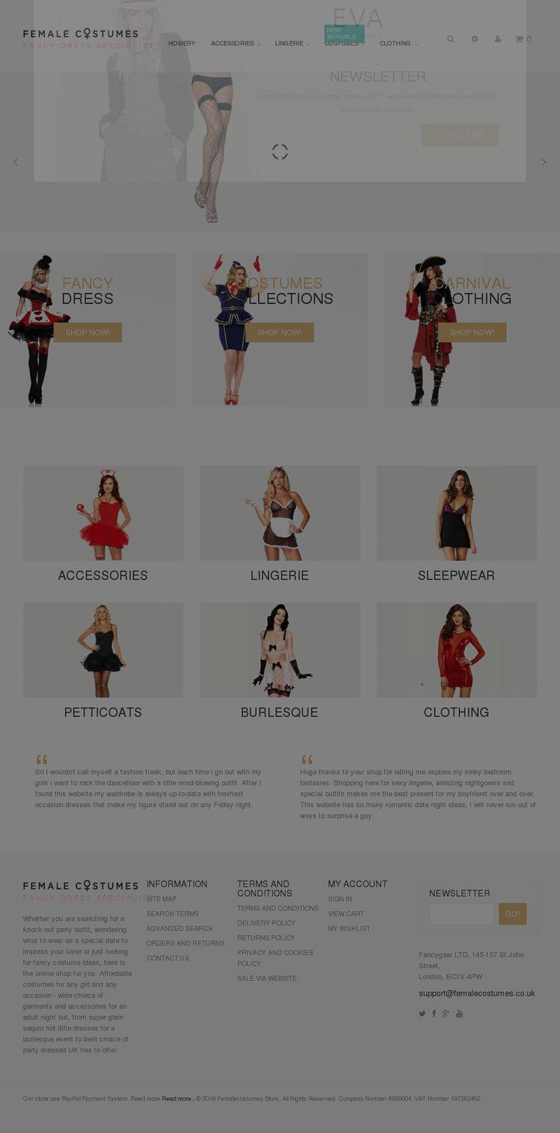Интернет магазин по продаже женских костюмов – work in freelancer's portfolio