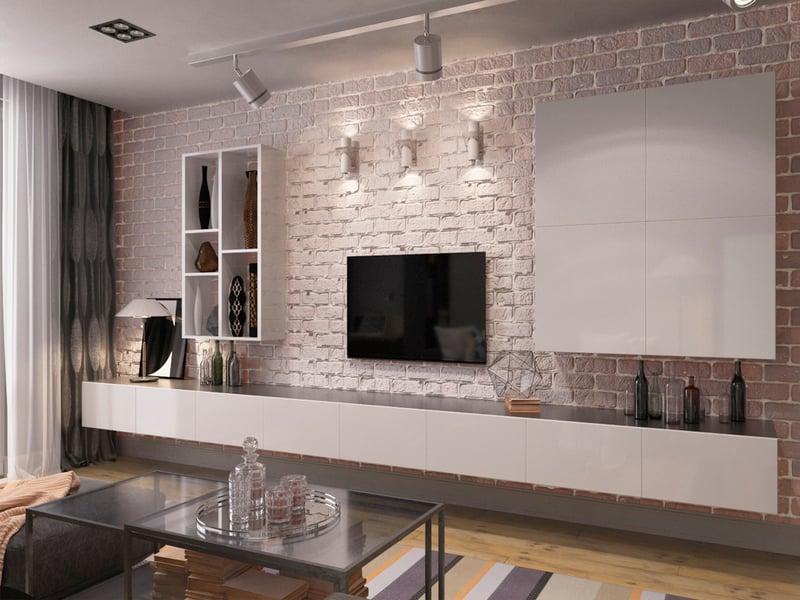 Двухкомнатная квартира 80 м2. Гостиная – work in freelancer's portfolio