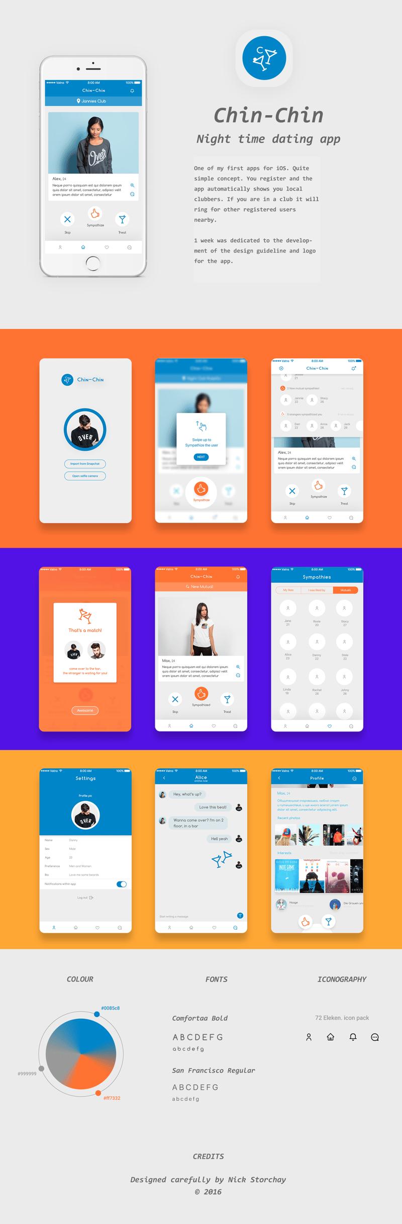 Chin-Chin iOS App – work in freelancer's portfolio
