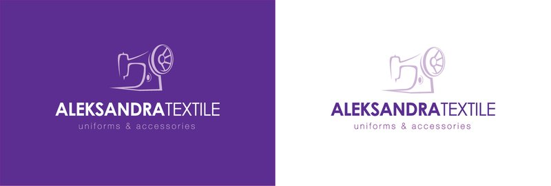 Логотип фирмы alexandra textil – work in freelancer's portfolio