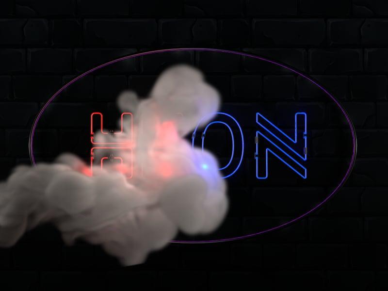 NEON – работа в портфолио фрилансера