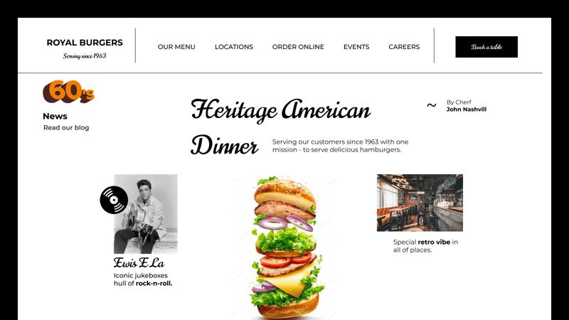 Веб-сайт для бургерної – work in freelancer's portfolio