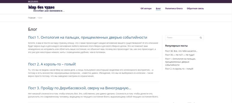 Личный блог – work in freelancer's portfolio