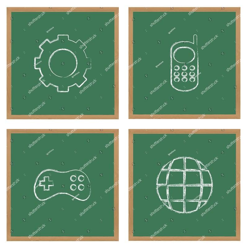 Іконки для сайту (крейдою) – work in freelancer's portfolio