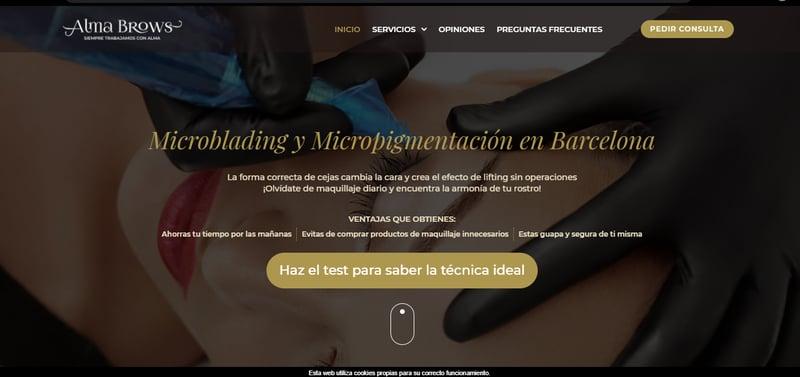 ( таргет) Alma Brows  перманентный макияж в Барселоне – work in freelancer's portfolio