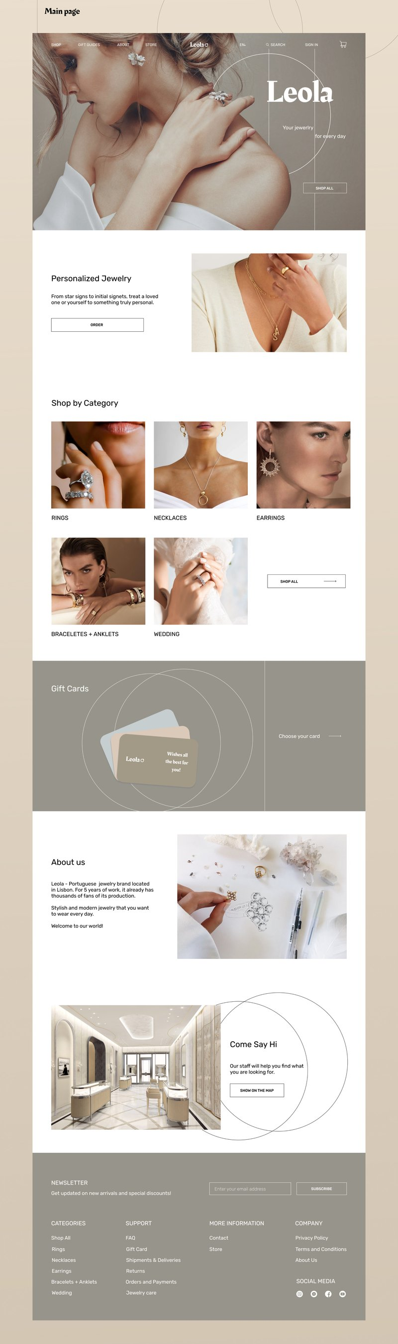 E-commerece - Jewelry store – work in freelancer's portfolio
