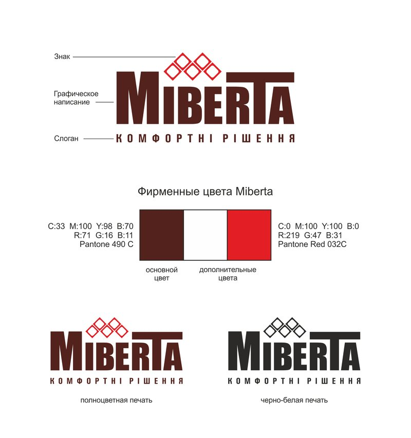 Логотип для компании Miberta – work in freelancer's portfolio