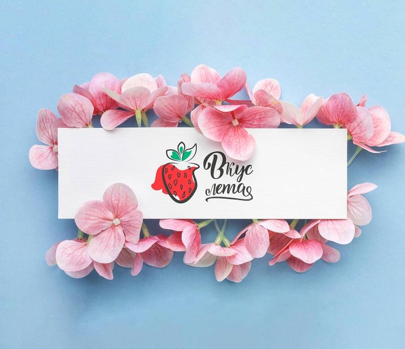 Логотип для магазина флористики «Вкус лета» – работа в портфолио фрилансера
