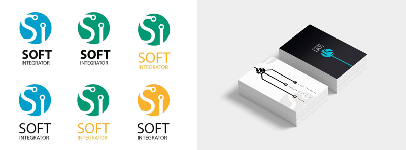 Логотип для SOFT INTEGRATOR – работа в портфолио фрилансера