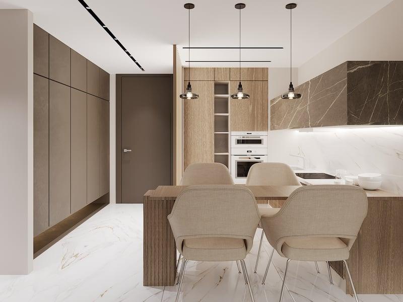 Дизайн-проект квартиры в Moscow-city – работа в портфолио фрилансера