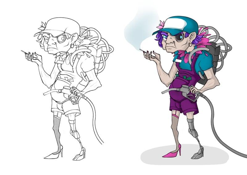 Концепт собственного персонажа – work in freelancer's portfolio