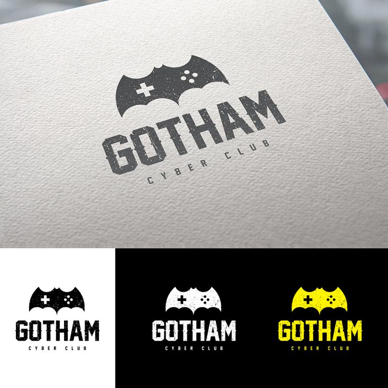 Лого Gotham Cyber club – работа в портфолио фрилансера