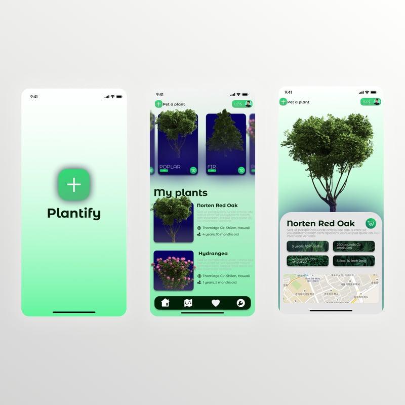 Plantify – work in freelancer's portfolio