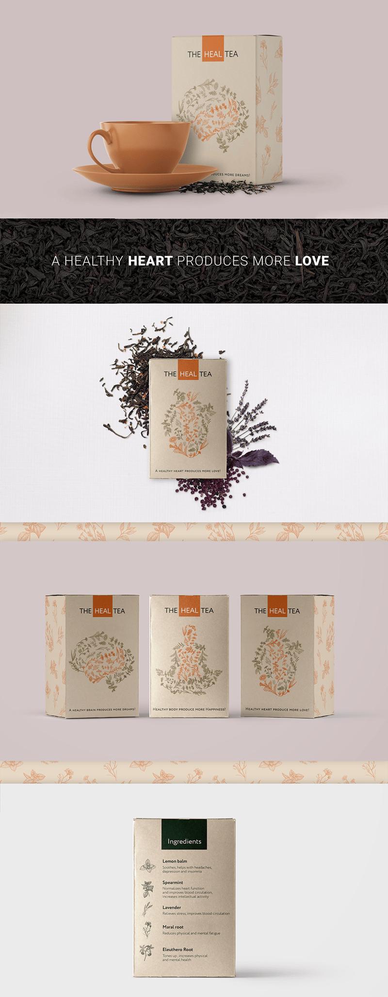 Дизайн упаковки травяного чая – работа в портфолио фрилансера