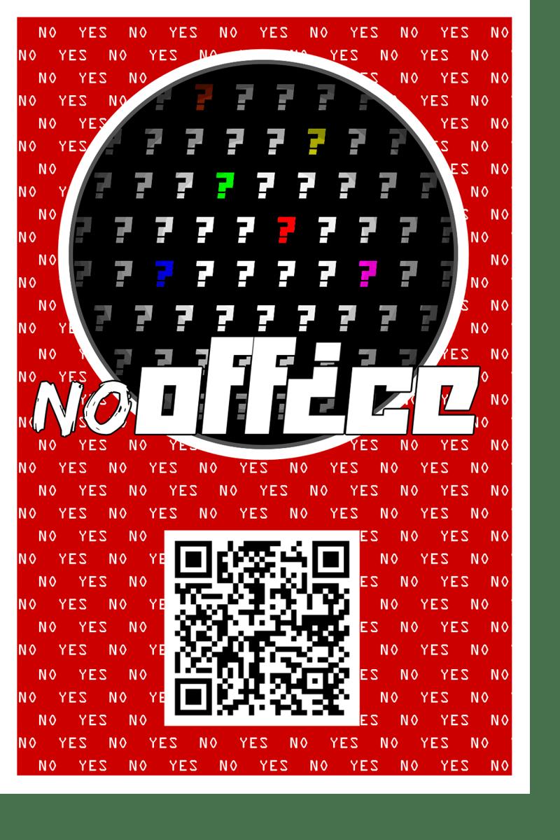 "Рекламная наклейка ""NoOffice"" – work in freelancer's portfolio"
