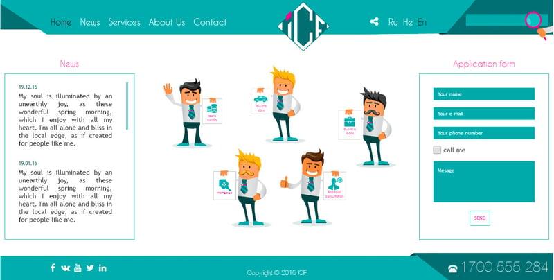 ICF – work in freelancer's portfolio
