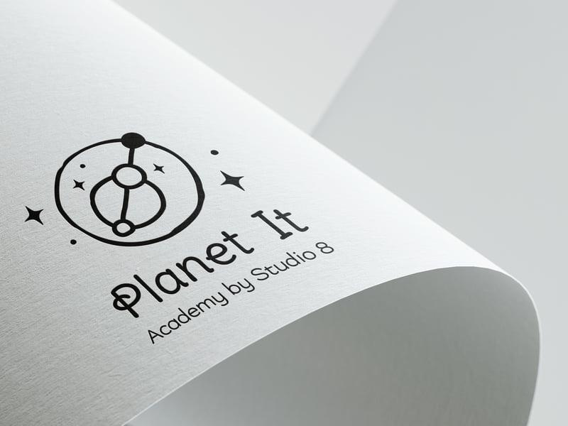 разработка логотипа для академии по обучению – работа в портфолио фрилансера