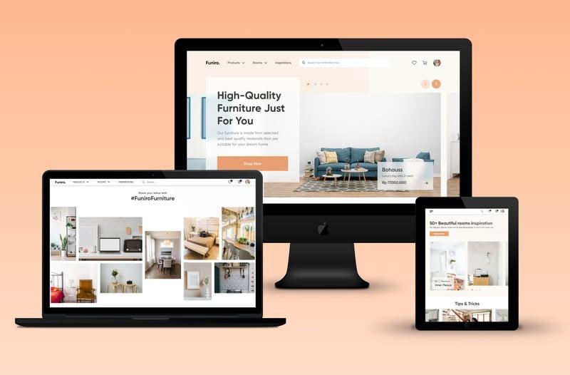 FurnitureShop - landing page. – работа в портфолио фрилансера