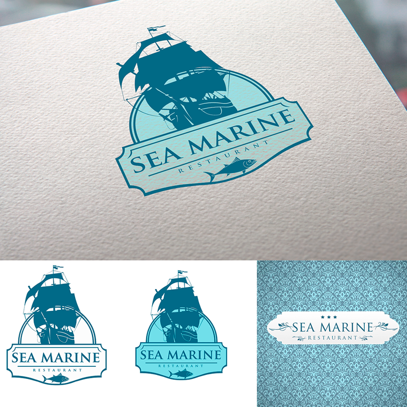 Логотип  Sea Marine – работа в портфолио фрилансера