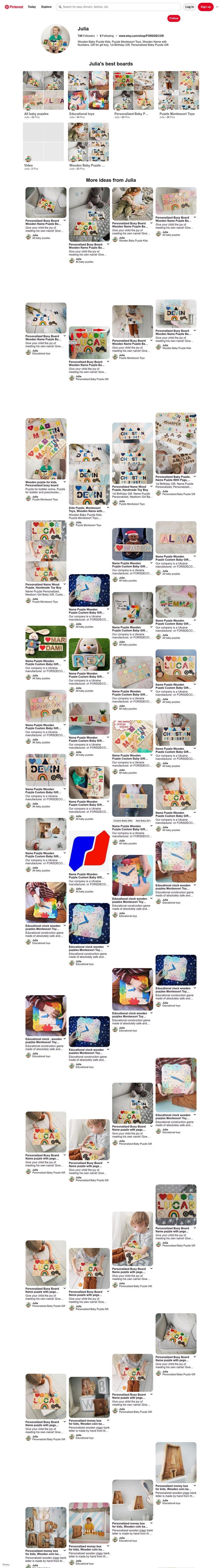 Wooden Baby Puzzle Kids, Puzzle Montessori Toys – работа в портфолио фрилансера