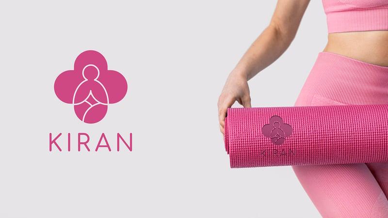 Логотип для йога центра «Kiran» – работа в портфолио фрилансера