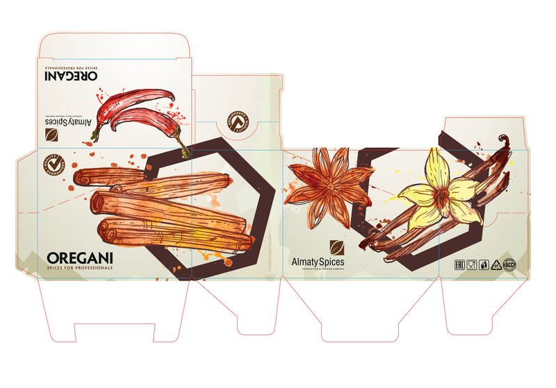 """Упаковка для компании """"Almaty Spices"""" – работа в портфолио фрилансера"""