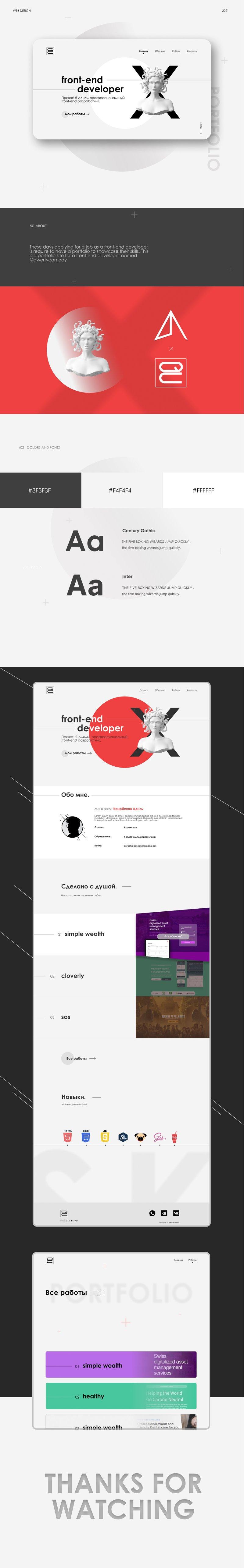 Сайт-портфолио для веб-разработчика – работа в портфолио фрилансера
