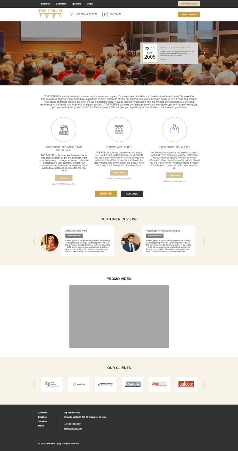 TopForum – работа в портфолио фрилансера
