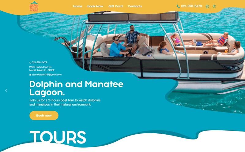 Dolphin Family Tours – work in freelancer's portfolio