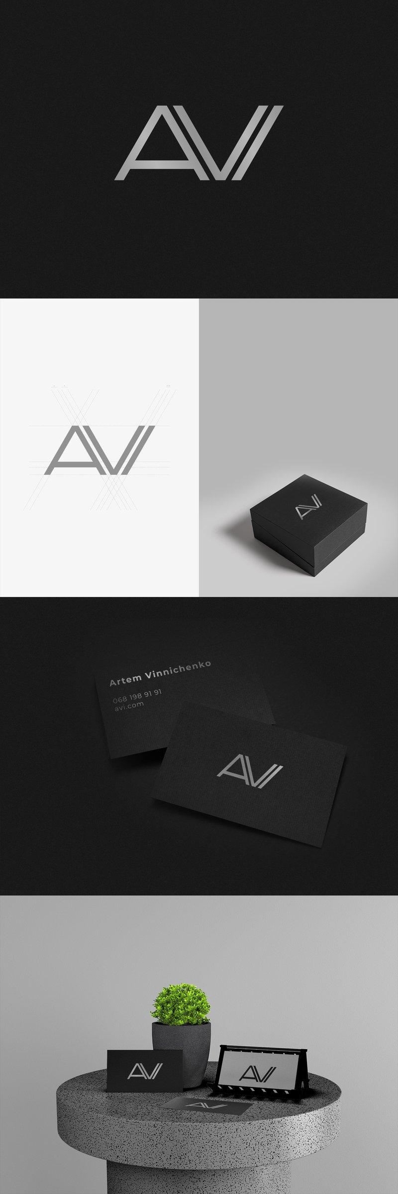 Разработка логотипа AVI – работа в портфолио фрилансера