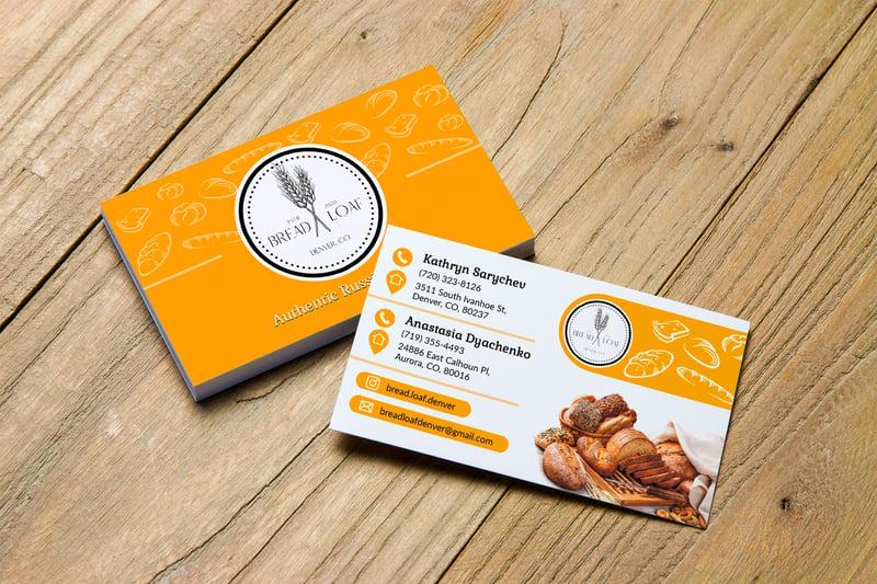 дизайн визиток для пекарни – работа в портфолио фрилансера