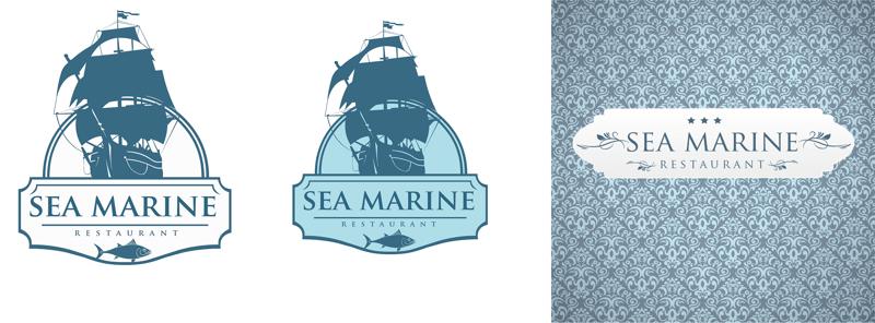 Логотип для морского ресторана Sea Marine – работа в портфолио фрилансера