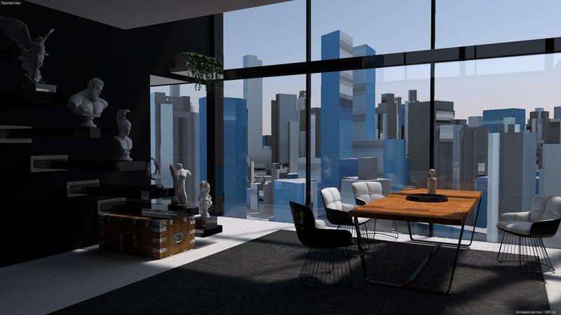 Дизайн интерьера – работа в портфолио фрилансера
