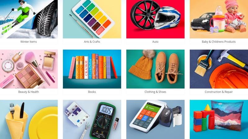 500 000 different products on the site – работа в портфолио фрилансера