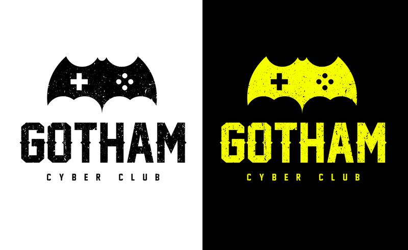Логотип для компьютерного клуба GOTHAM – работа в портфолио фрилансера