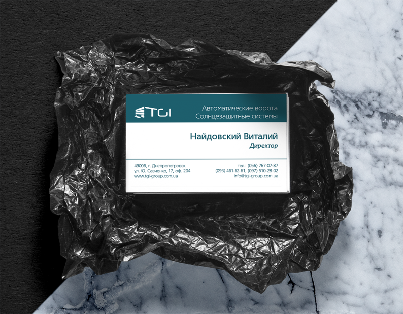 "Визитки для ООО ""ТГИ"" – work in freelancer's portfolio"